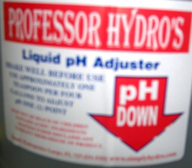 Bottle of pH down.